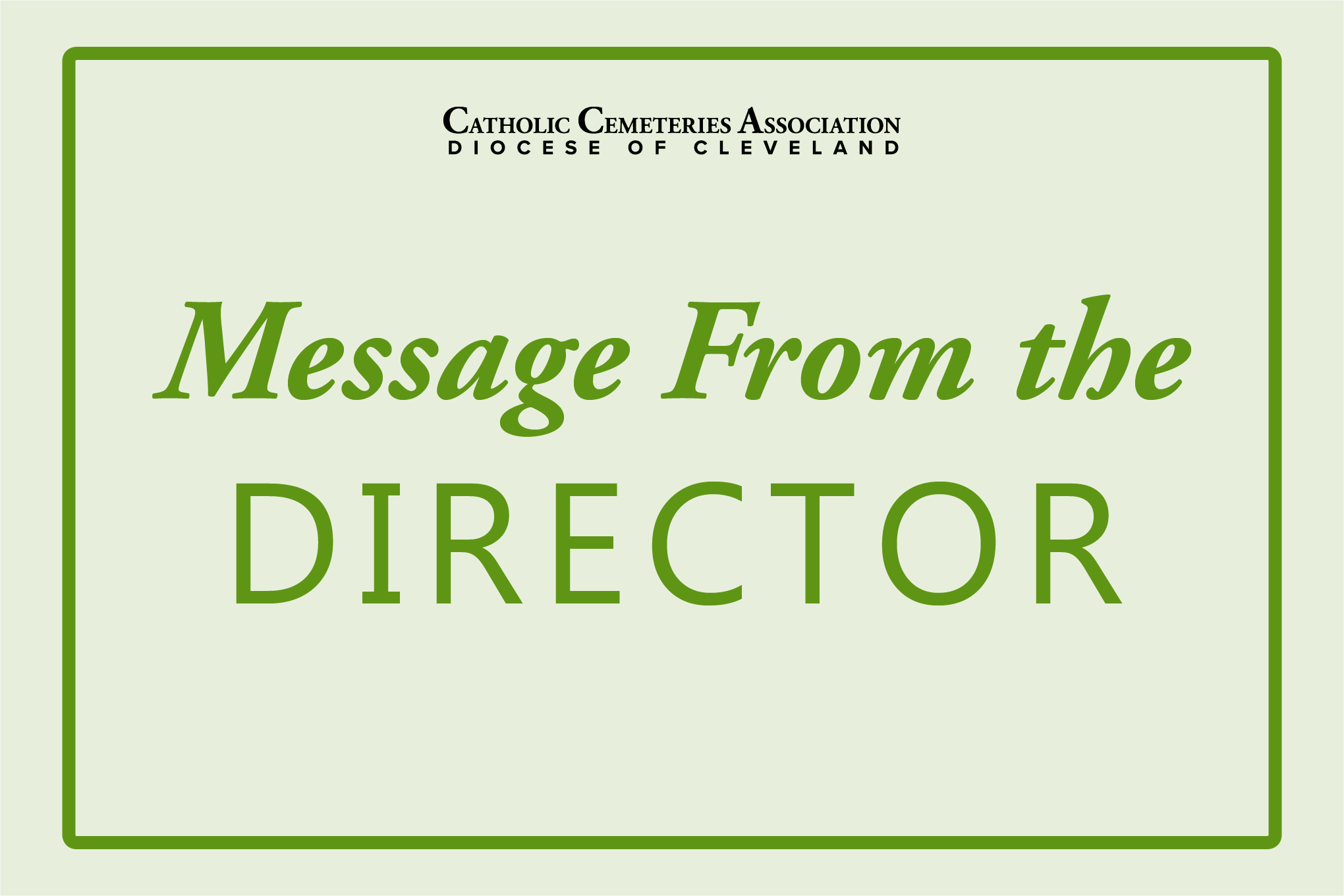 message from the director header image